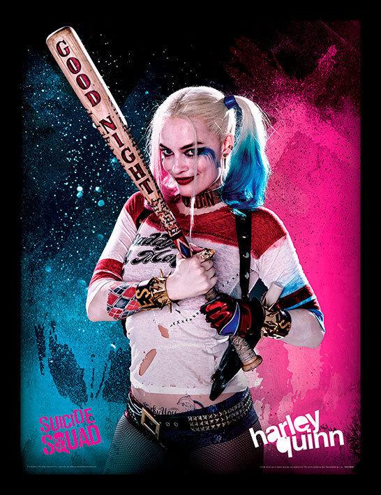 HARLEY QUINN WONDER WOMAN Suicide Squad Pinup Art 5x7 MINI-PRINT Garrett Blair