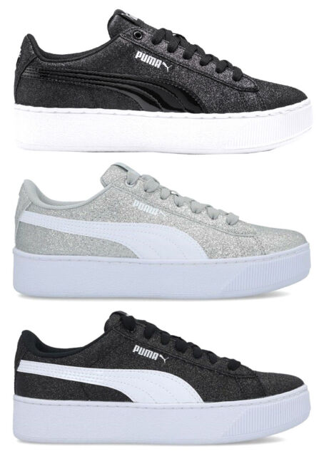 PUMA VIKKY PLATFORM GLITZ JR scarpe donna sneakers pelle