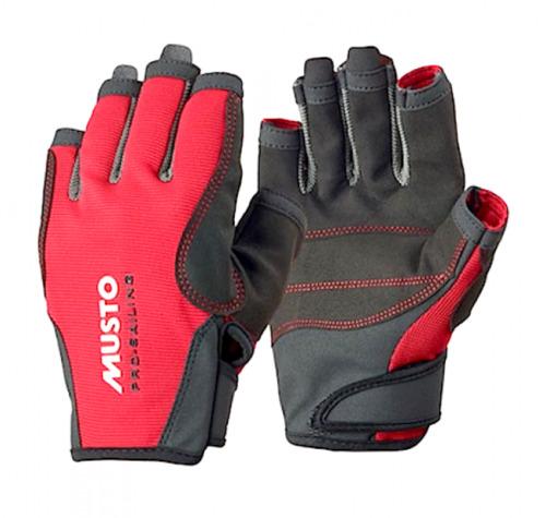 Musto, Segelhandschuh Essential Sailing Glove S/F, Rot