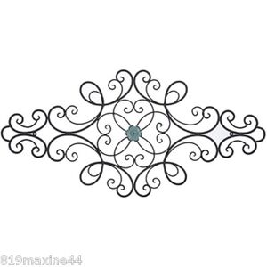 Awesome Image Is Loading Black Metal Scroll Wall Decor With Interchangeable Flowers
