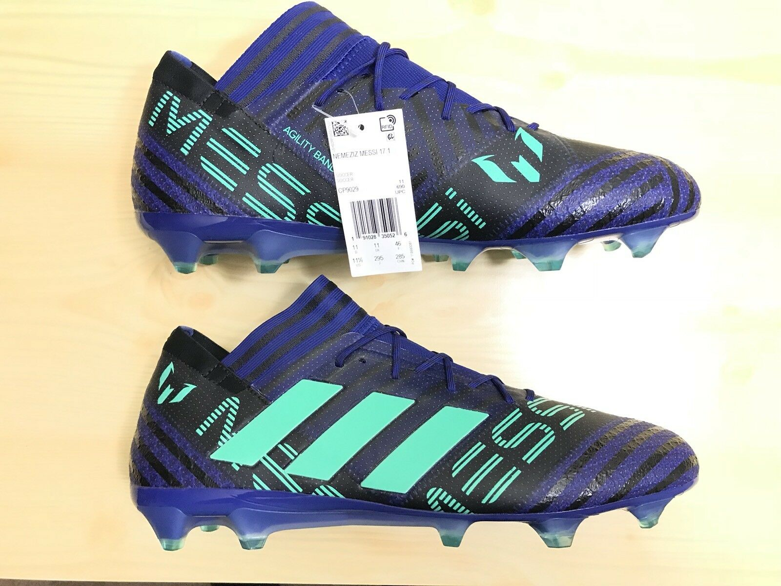 New Adidas Nemeziz Messi 17.1 FG Men's Soccer Cleats  CP9029  bluee Green Sz 11.5