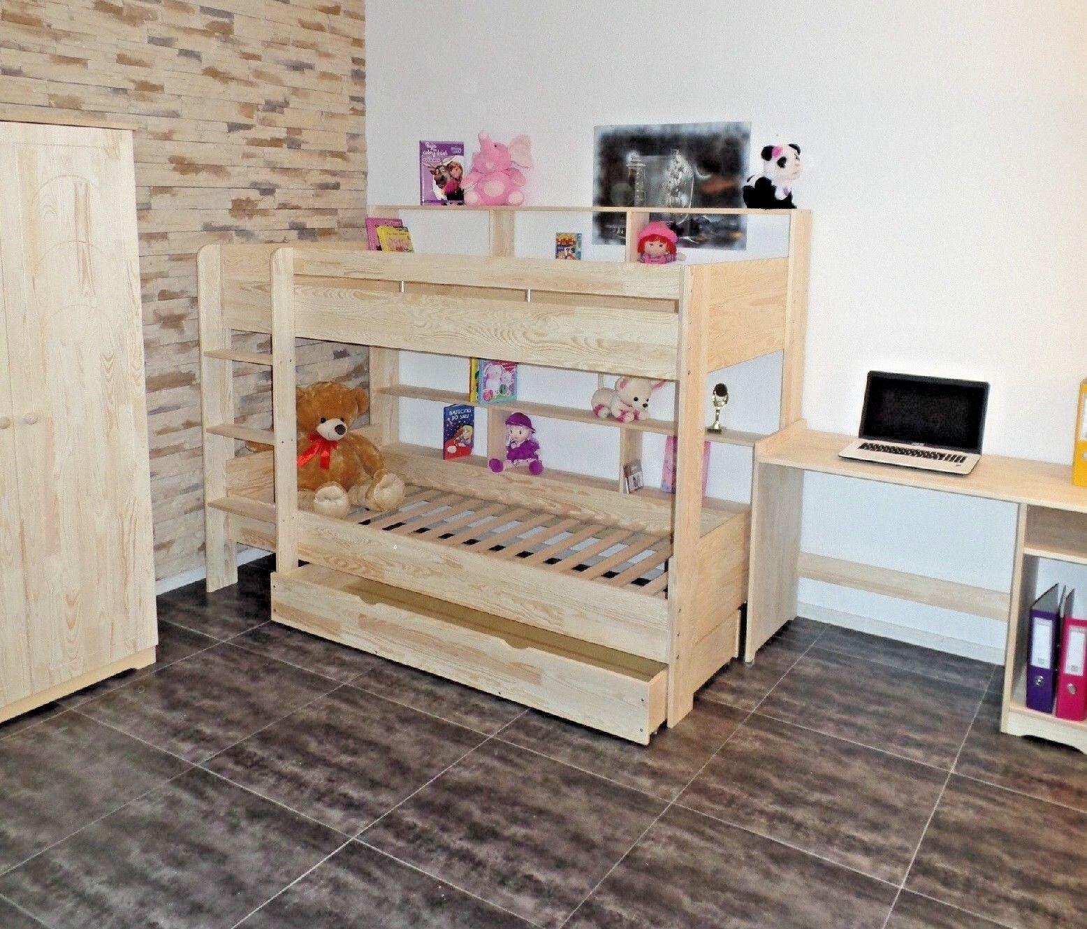 Mezzanine de Lit D'Enfant Lits Superposés Chambre D'Enfants Wobbler Tiroir Bois