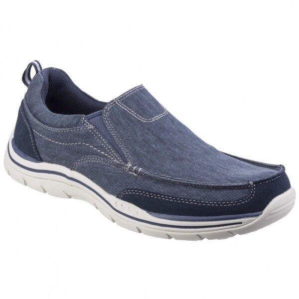 vendita online Skechers-Testa da uomo EXPECTED tela memoria Foam Foam Foam ad alto grip Mocassini Scarpe Blu Navy  clienti prima reputazione prima