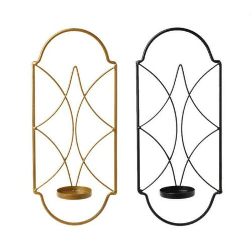 Nordic Style Metal Candlestick Wall Mounted Sconce Candle Holder Home Decor