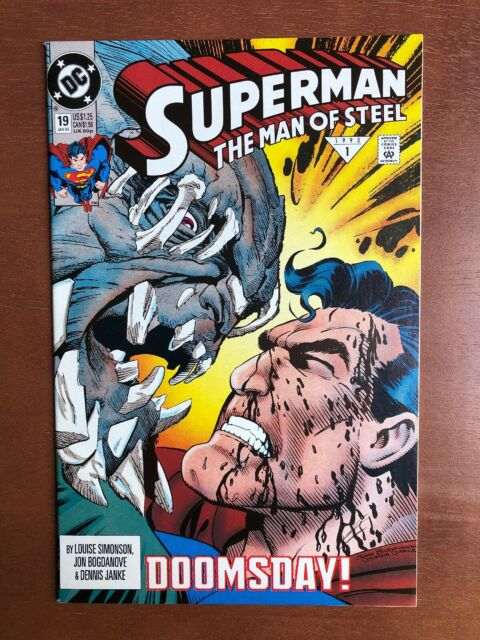 Superman: The Man of Steel #19 (1993) 9.4 NM DC Key Issue Comic Book Doomsday