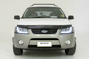 LED-Projector-Black-Headlights-for-Ford-Territory-SX-SY-04-05-06-07-08-DRL-Style