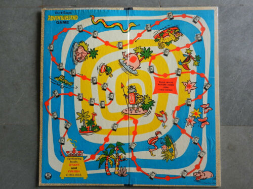 Vintage Walt Disney Adventure Land Litho Print Board Game