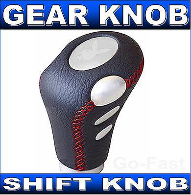 GEAR SHIFT KNOB - GEAR KNOB - SHIFT KNOB - GRAINED BLACK LEATHER GEAR SHIFT KNOB
