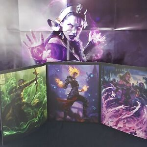 Magic The Gathering Arena Triptych Art Print And Poster With