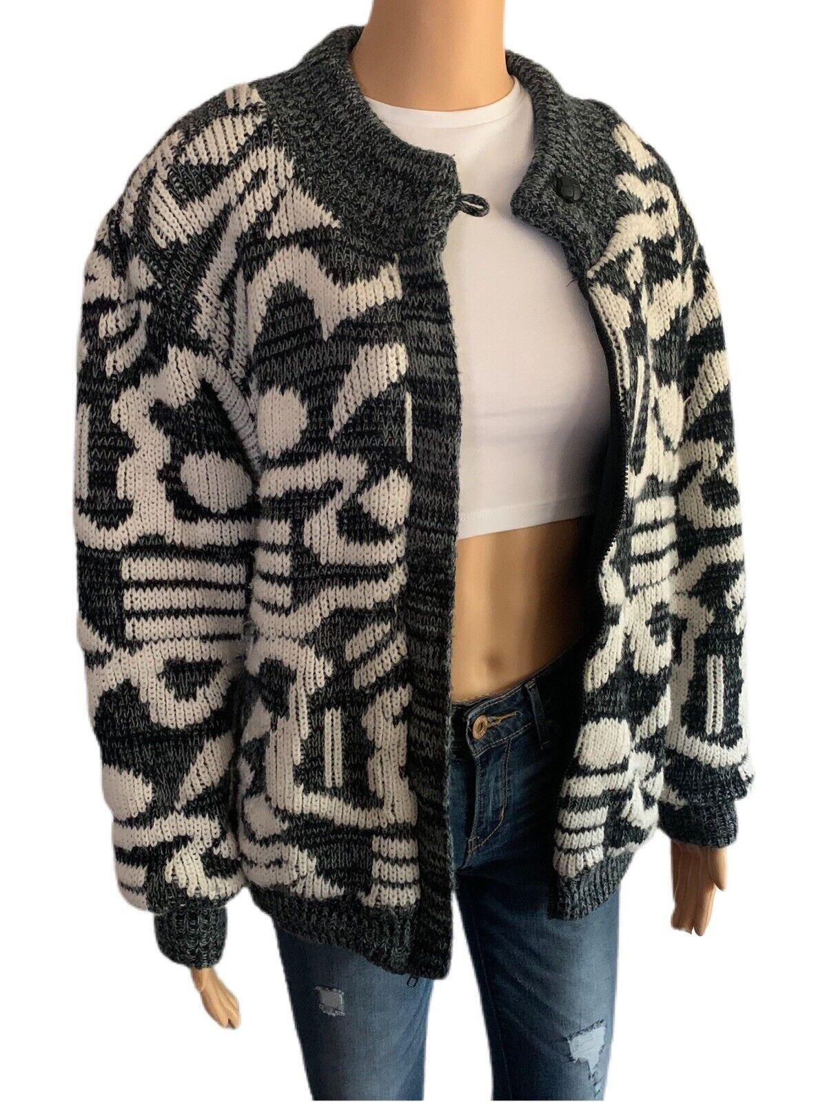 Chimayo Knit Sweater Jacket 80s Vintage Jacket Bo… - image 4