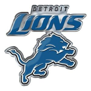 b1ebcfec6ef Detroit Lions CE4 Alternative Logo Color METAL Auto Emblem Chrome ...