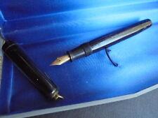 AURORA PENNA SERBATOIO STILOGRAFICA VINTAGE CELLULOIDE NERA ORO 14K Fountain pen