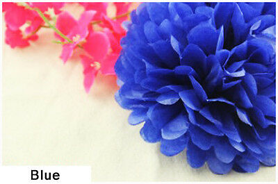 "10"" 25CM Tissue Paper Pom Poms Flower Balls Wedding Birthday Party Decoration"