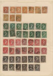 CANADA-Used-Victoria-Examples-Ex-Old-Time-Collection-Album-Page-33973
