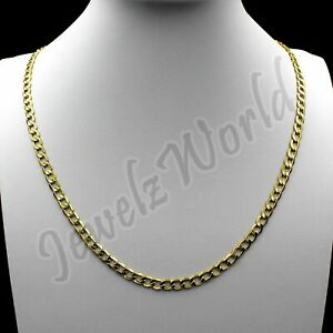 10K-Solid-Yellow-Gold-Cuban-Curb-Link-Chain-Necklace-2-5MM-16-034-18-034-20-034-22-034-24-034