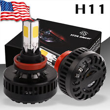 YITA 120W 4 Side COB H11 LED High/Low Beam Bulb 8000LM Headlight Conversion Kit