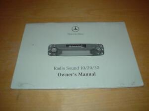 mercedes sound 10 20 30 radio owners handbook manual a c e s vito rh ebay co uk mercedes w203 radio manual mercedes c250 radio manual