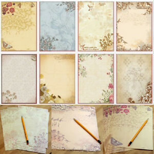 10pcsset vintage flower printing letter writing paper stationery image is loading 10pcs set vintage flower printing letter writing paper mightylinksfo