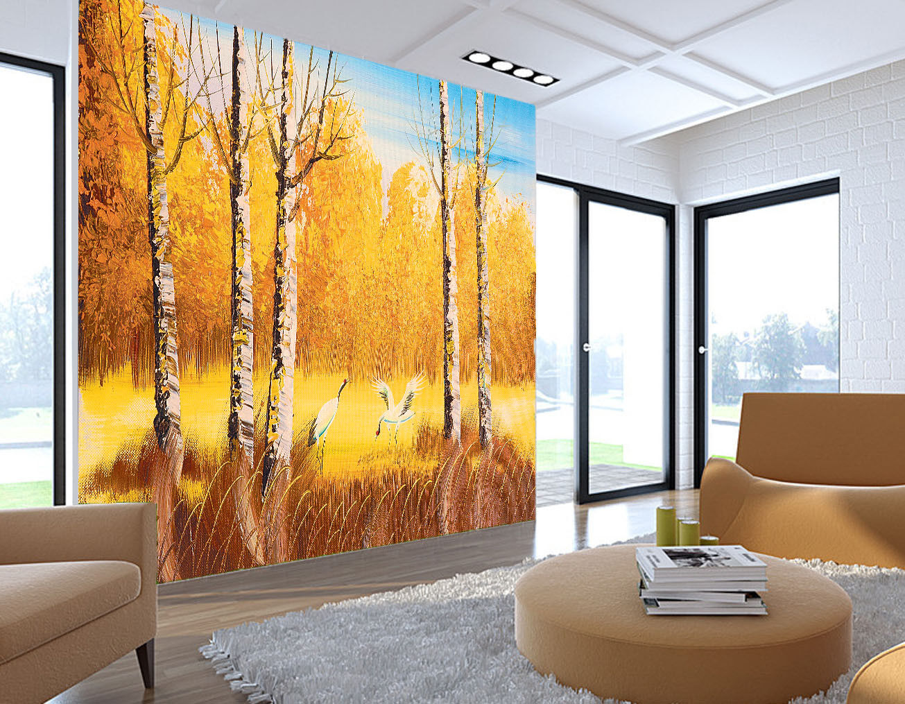3D Paint Forest 633 Wallpaper Murals Wall Print Wallpaper Mural AJ WALL UK Lemon