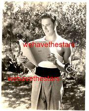 Vintage Errol Flynn BEEFCAKE HANDSOME '35 BEHIND SCENES Pub Portrait LONGWORTH