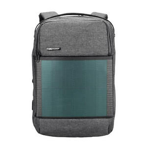 Moustache® Waterproof Solar Powered 15.6 Inch Backpack with USB Charging Port
