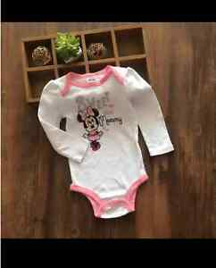 Licensed-Minnie-Mouse-Baby-Girl-Long-Sleeve-Bodysuit-Romper-size-NB-0-3-6-12-mos