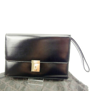 1a4710882 Image is loading Gucci-Clutch-bag-Black-Woman-Authentic-Used-Y5209