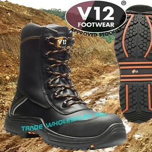 6b73ef17909 Details about V12 Defiant IGS Safety Work Boots High Leg Zip Side V12E1300  Oil/Gas Industry