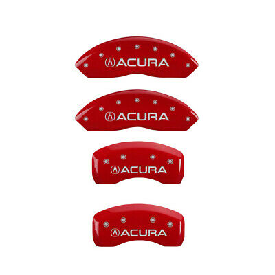 MGP Caliper Covers Engraved Front /& Rear For 09-14 Acura TL Red