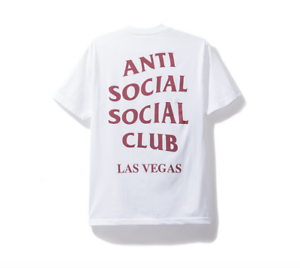 NIP Anti Social Social Club Las Vegas Tee White ASSC NWT Made in USA Medium & XL