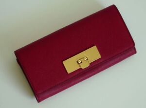 NWT-Michael-Kors-Callie-Cherry-Saffiano-Leather-Wallet-25-off-your-next-order