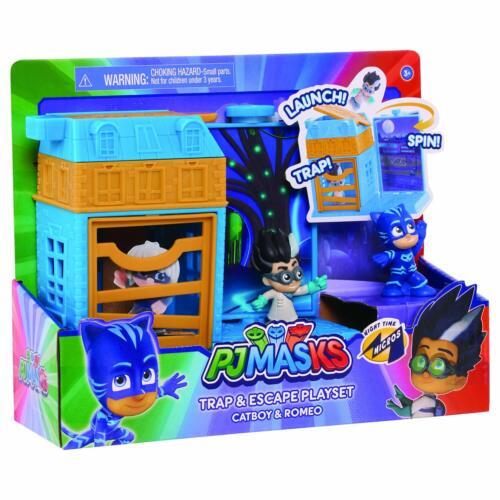 Nouveau-PJ Masks nocturnes Micros Piège Escape Playset catboy /& ROMEO