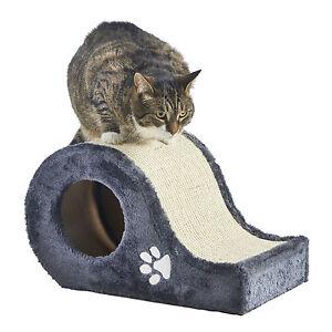 Milo Amp Misty Cat Scratching Post Grey Amp Cream Sisal Hide