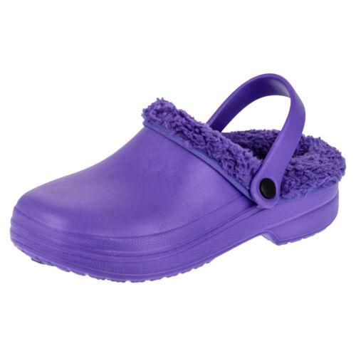 Gefütterte Damen Clogs Winter Schuhe Freizeit Pantoffel Futter herausnehmbar NEU