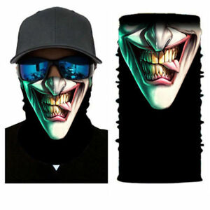 US-Joker-Skull-Motorcycle-Cycling-Neck-Scarf-Half-Face-Mask-Bandana-Ski-Headband