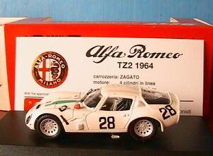 ALFA-ROMEO-TZ2-28-MONZA-1967-DE-LOENIB-BI-BONA-BEST-9118-1-43-MADE-IN-ITALY