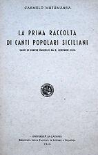 SICILIA RAGUSA COMISO CANTI POPOLARI