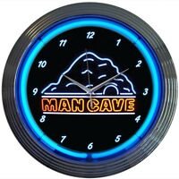 Man Cave Neon Clock W/ Free Shipping