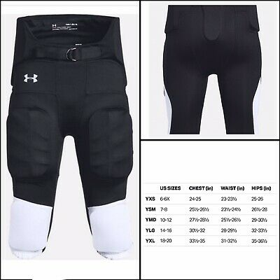 White, X-Large Under Armour Adult Integrated Football Pants