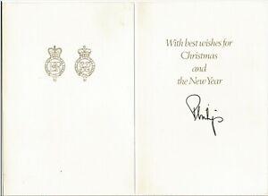 Prince PHILIP * Duke of Edinburgh * Orig. signierte CHRISTMAS-Card von 1988