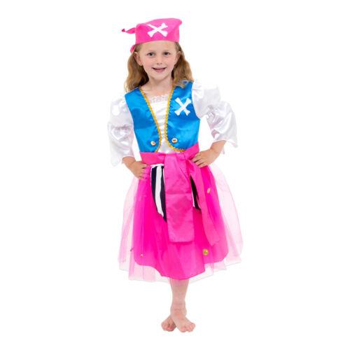 3,4,6,8 yrs Luxury Kids Girls Pirate Fancy Dress Costume Lucy Locket