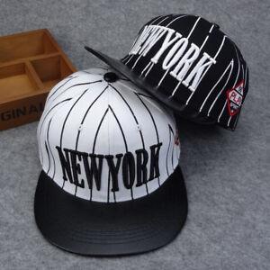 4af0eaf243c Kids Baseball Cap Boys Girls Stripe New York Letter Summer Sun ...