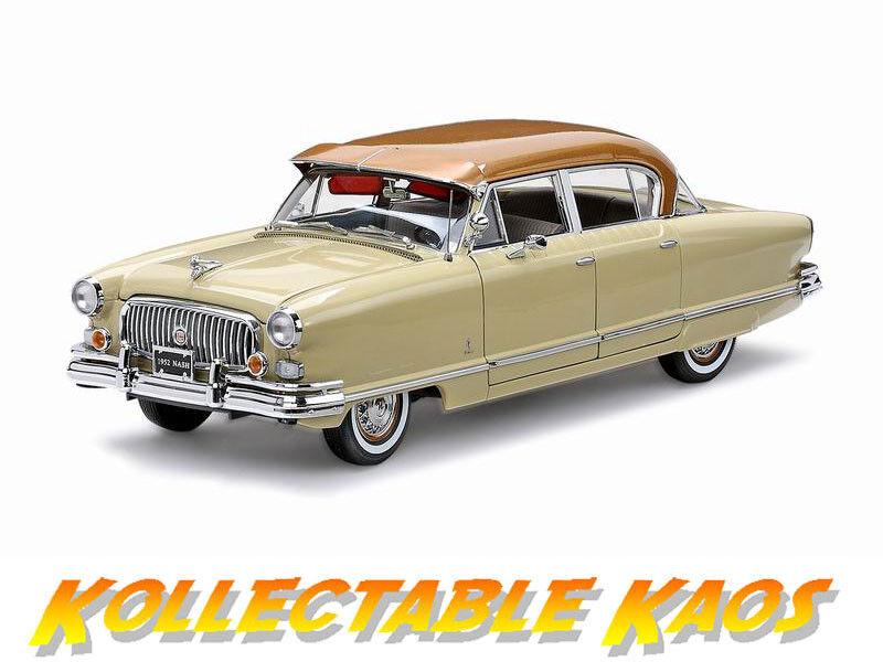 perfecto 1 18 Sun Estrella - 1952 Nash Ambassador Airflyte-Ann. oro oro oro Metálico Marfil  ventas en linea