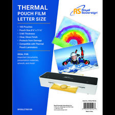 Royal Sovereign Rf05letr0100 Pouch Lamination Film 5 Mil Thickness Letter