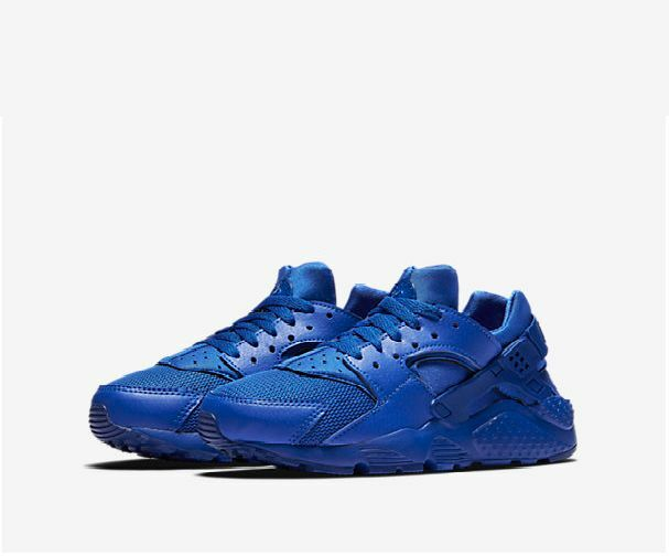 NIKE AIR HUARACHES RUN(GS) BLUE WOMEN BOYS GIRLS TRAINER ALL SIZE