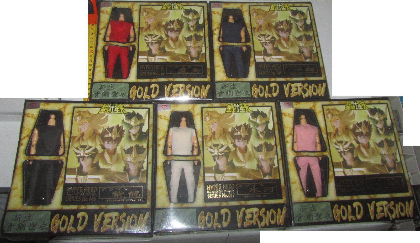 Gold Gold Gold SAINT SEIYA SET Hyper Hero Real Action Doll Cavalieri dello Zodiaco 7beefc