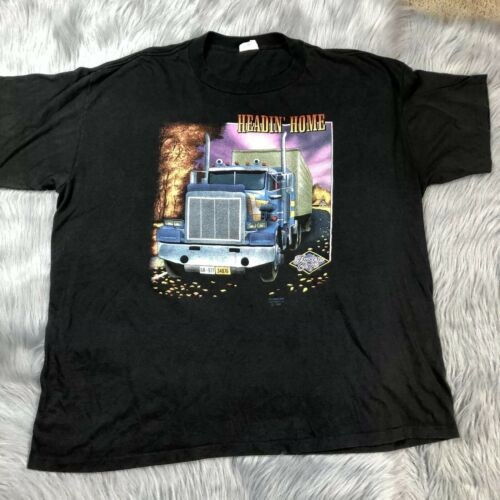 Vintage 1991 3D Emblem Truckers Only Headin Home M