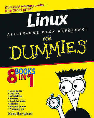 1 of 1 - Linux All-in-One Desk Reference For Dummies, Barkakati, Naba, New Book