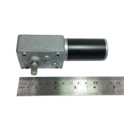 BBQ Motor Worm Gear Motor 12V//24V DC Self-locking Turbo Worm Metal Gearbox 31ZY