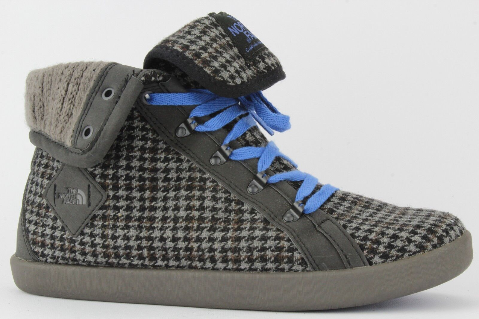 The North Face Women's Gray/Black Base Camp Camp Base Roll-down High-top Sneaker Size 6.5 21444e